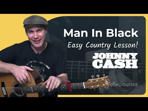 How To Play Man In Black By Johnny Cash (Acoustic Guitar Lesson SB-118)