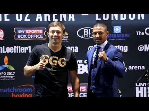 Gennady Golovkin vs. Kell Brook COMPLETE New York Press Conference & Face Off Video
