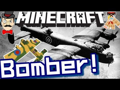 Minecraft LANCASTER BOMBER ! Fly & Drop Bombs !