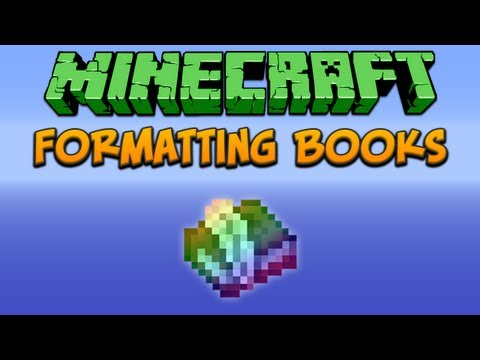 Minecraft: Formatting Books Tutorial