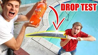NINJA WEAPON SODA DROP TEST!!
