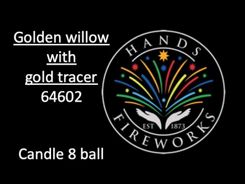 64602 - 30mm GOLD WILLOW with GOLD TRACER