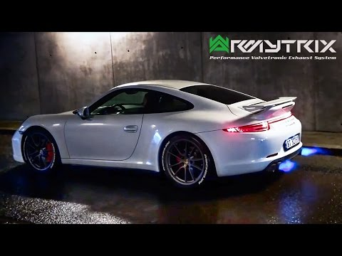 Porsche ARMYTRIX Exhaust Sound | 911 GT3 RS Turbo S Carrera S Cayman GTS FLAMES! By AutoTopNL
