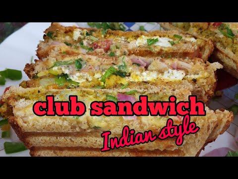 Double decker club sandwich recipe/उंगलियां चाट जाएगा, जब ये सेंनडविच खाएगे/tiffin sandwich recipe