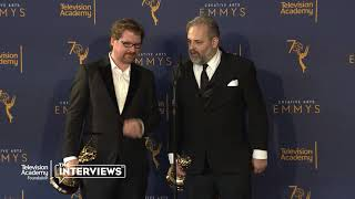 "Emmy winners Justin Roiland & Dan Harmon (""Rick and Morty"") 2018 Creative Arts Emmys Press Room"