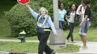 A crossroads for this crossing guard