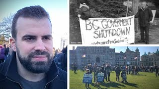 """Canadians just want to work"": Foresters hold anti-blockade rally at BC legislature 