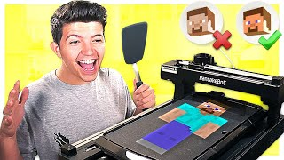 MINECRAFT PANCAKE ROBOT GUESSING CHALLENGE!