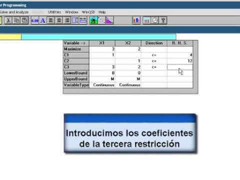 Metodo Grafico utilizando la herramienta WINQSB