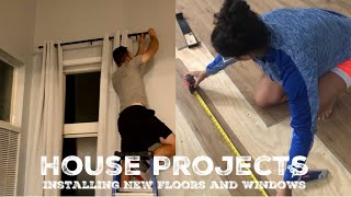 DIY House Projects | Luxury Vinyl Plank Floor Installation & New Windows
