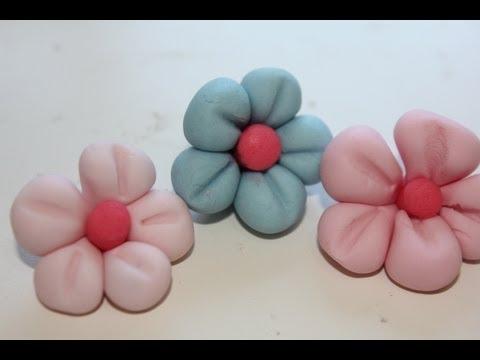 Cómo modelar con fondant flores faciles