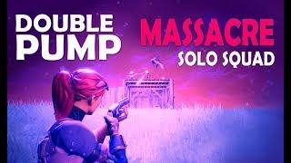 DOUBLE PUMP MASSACRE | SOLO vs. SQUAD! 23KILL - (Fortnite Battle Royale)