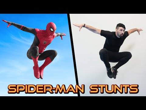 Stunts From Spiderman In Real Life (Marvel, Avengers, Parkour)