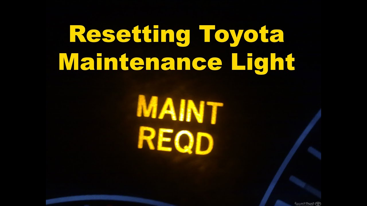 Reset Rav4 Maintenance Light