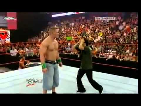 WWe funny Korean guy hits John Cena!!!