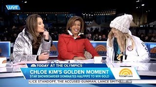 Chole Kim Gets Emotional Chatting Her Gold Medal Run - Today Show