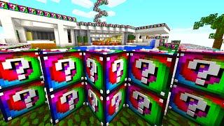Minecraft NOTCH'S LUCKY BLOCK MANSION! (Spiral Lucky Block Challenge)