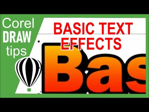 Basic text effects in CorelDraw