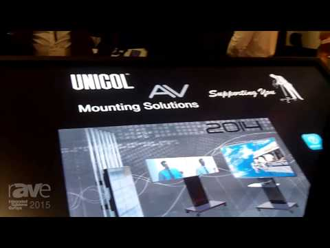 ISE 2015: UNICOL Shows Tablo Plus Vertical or Horizontal Digital Signage Trolley