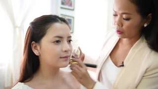 Syna Makeup School - Evening makeup with elianto Cambodia products (Khmer)
