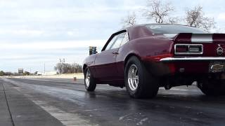 Mark Brown 1968 Camaro Nitrous Test Run 1 (first pass) w slow motion
