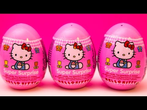 Hello Kitty Surprise Easter Eggs Sanrio Toys Huevos sorpresa