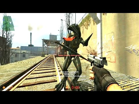 Counter Strike Source - Zombie Riot mod - Multiplayer gameplay on Assault map