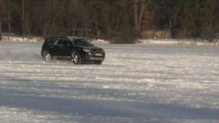 Mitsubishi Outalnder XL on the frozen lake