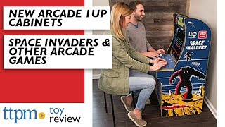 Arcade1Up Galaga, Pac-Man, Space Invaders, and Street Fighter from Tastemakers, LLC