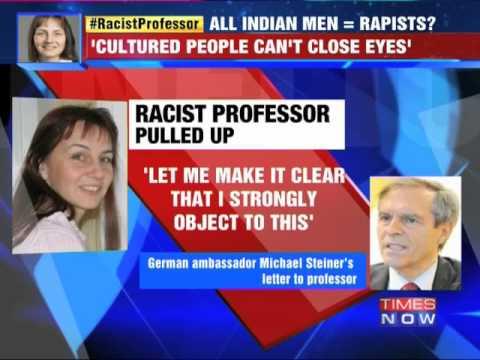German Professor racist remark