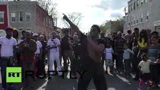'Michael Jackson' dancing protester rocks Baltimore rally