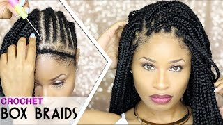 How To CROCHET BOX BRAIDS (looks like the real thing! free-parting)