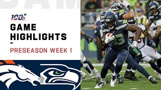 Broncos vs. Seahawks Preseason Week 1 Highlights | NFL 2019
