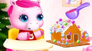 Fun Pony Care Kids Game - Pony Sisters Christmas - Fun Animal Dress Up, Makeover Color Game For Kids