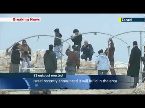 Palestinian E1 protest camp: activists build 'village' at site of planned Jerusalem expansion