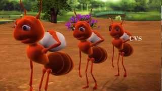 Cheema entho chinnadi - Ants 3D Animation Telugu Rhymes For Children with Lyrics