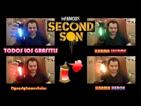 inFAMOUS Second Son-Todos los Grafitis Karma infame y Héroe-Trofeo no te salgas de los puntos