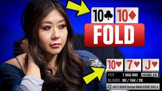 Maria Ho FOLDS A SET On The Flop?! - Insane Poker Hand (WSOP Europe)