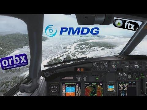 FSX | B738NG Southwest Jackson Hole Snowy Short Runway Arrival