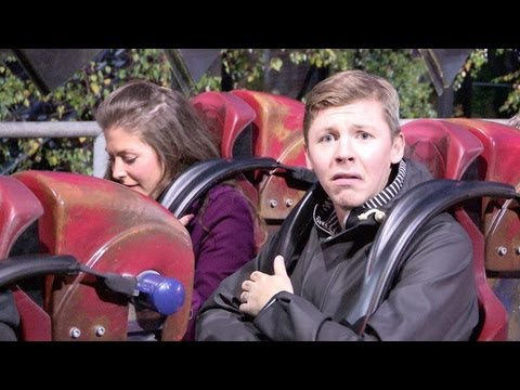 Professor Green at Alton Towers interviewed on Oblivion, Blade, Rita and the Teacups.