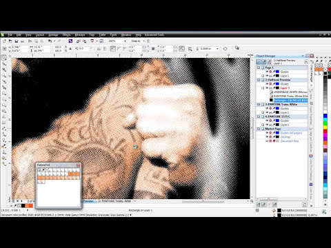 Simulated Process Color Separation MMA Fighting Style Design in CorelDRAW