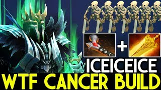 Iceiceice [Wraith King] WTF Cancer Build First item Rod of Atos 7.21 Dota 2