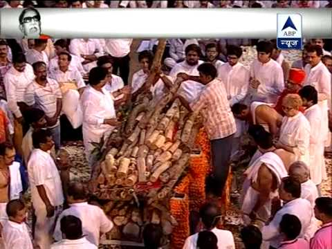 Bal Thackerays Final Journey: Uddhav Thackeray lights funeral...
