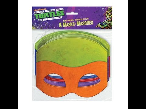 Review: Teenage Mutant Ninja Turtles Masks. 8 Count