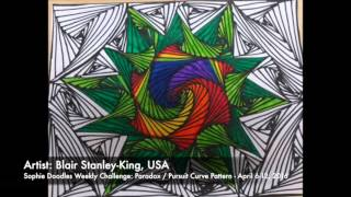 Paradox -  Pursuit Curves Compilation of Designs (Zentangle, Doodle, illusion, Doodles, Youtube)