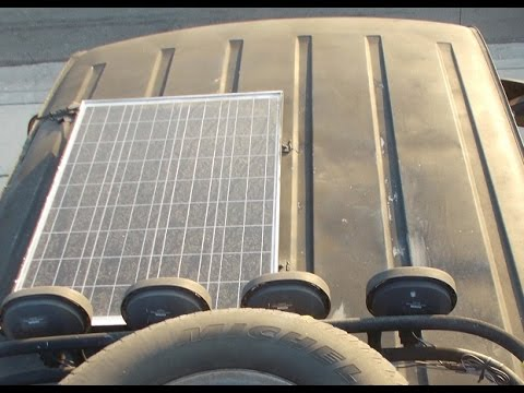 Van running Solar update Windy Nation Kit and Optima Blue Top Marine Battery Running Video Games