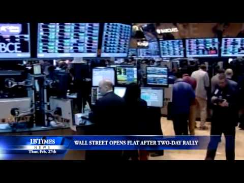 Wall Street Opens Flat After Two-Day Rally