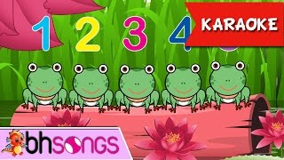 Five Little Speckled Frogs Karaoke | Nursery Rhymes | Kids Songs [Ultra 4K Music Video]
