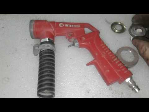 Видео обзор пескоструйного пистолета, минусы!!!!!!!!