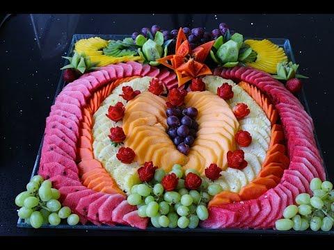 Como hacer un corazon de fruta picada para una fiesta o regalo #3 - arte con fruta DIY